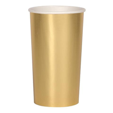 Gold highball cups - Meri Meri