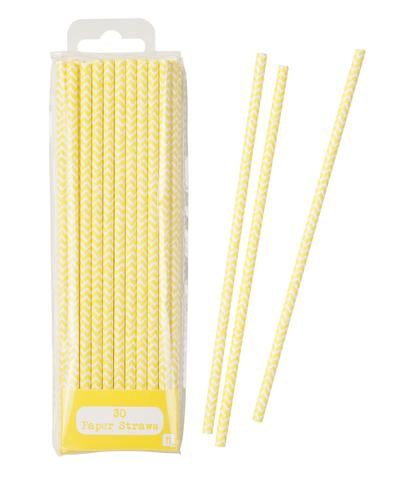 Yellow chevron straws