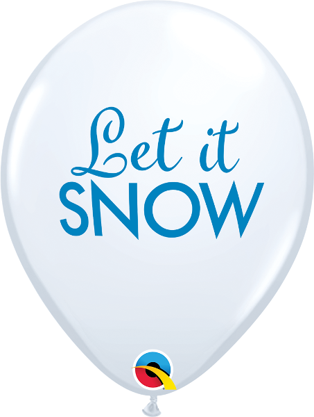 "11"" balloon - white let it snow"