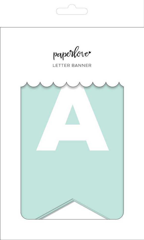 Letter banner sky - personalize