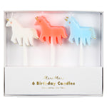 Unicorn Candles (6) - Meri Meri