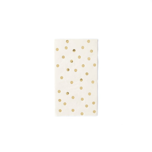 cream with gold dot large napkins