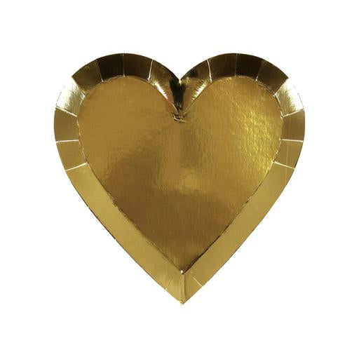Gold heart shaped plates (small) - Meri Meri
