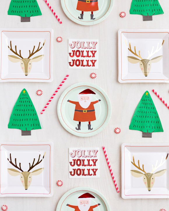 Holiday tree napkins