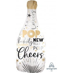 New year champagne bottle - satin infused