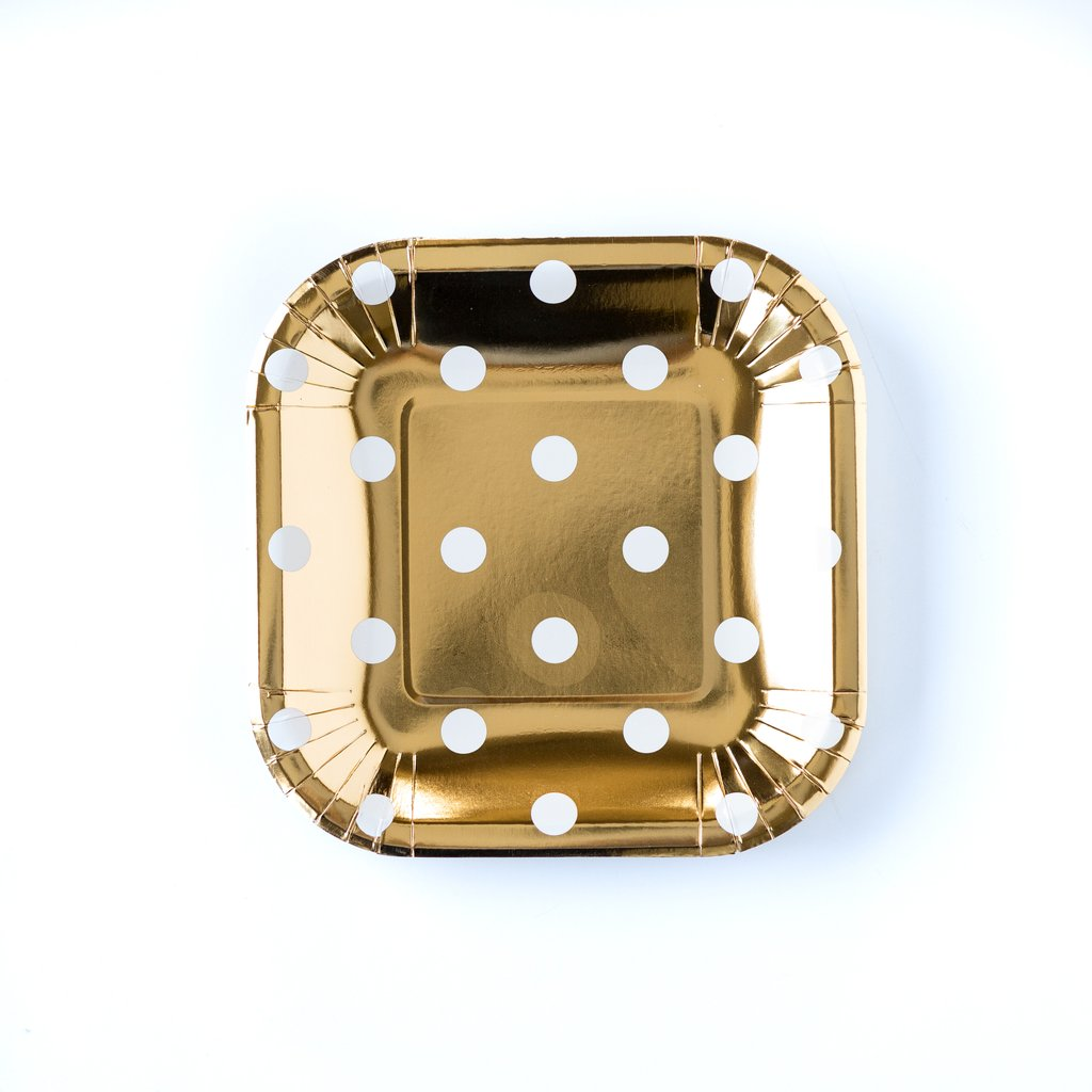 Gold dot small plates