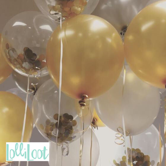 Gold and silver confetti mix