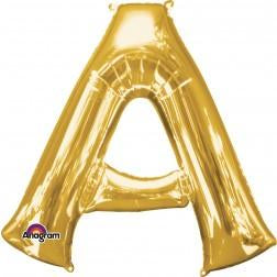 Gold giant letters A-Z