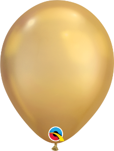 "11"" balloons - chrome gold"
