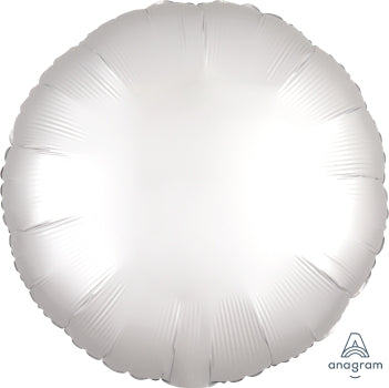 Satin luxe circle - white