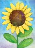 Sunflower- blank card