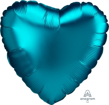 Satin luxe heart - aqua