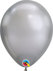 "11"" balloon - chrome silver"