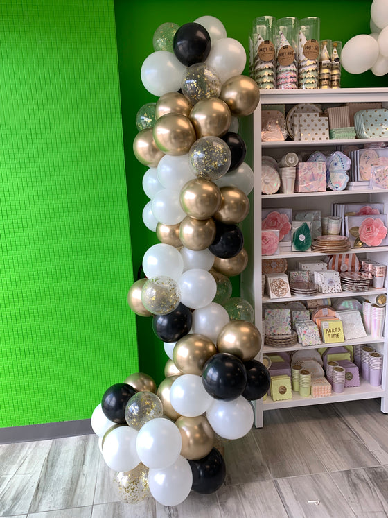 Black & white with bling balloon garland