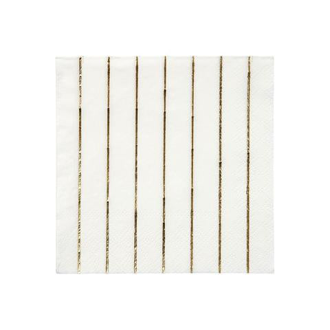 Gold stripe small napkins - Meri Meri