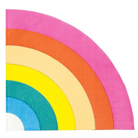 Rainbow shaped napkins