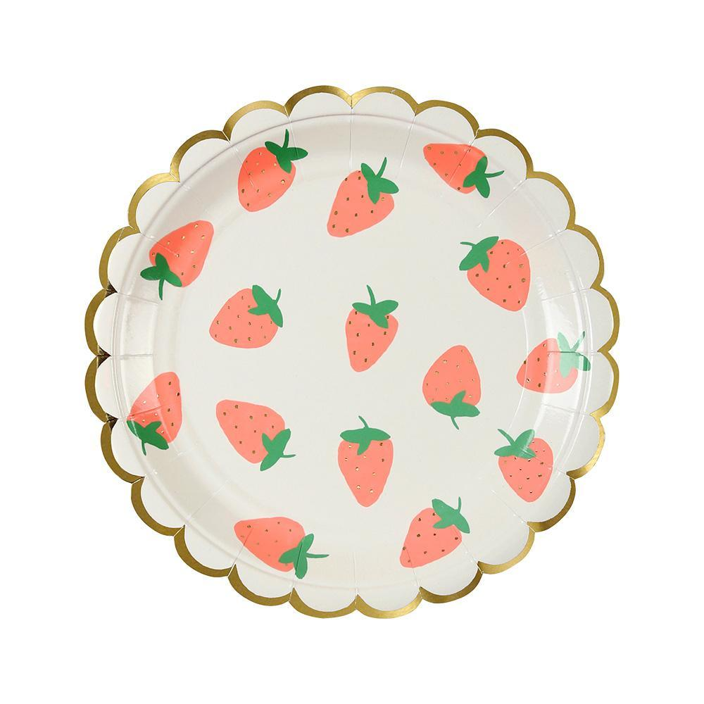 Strawberry small plates - Meri Meri