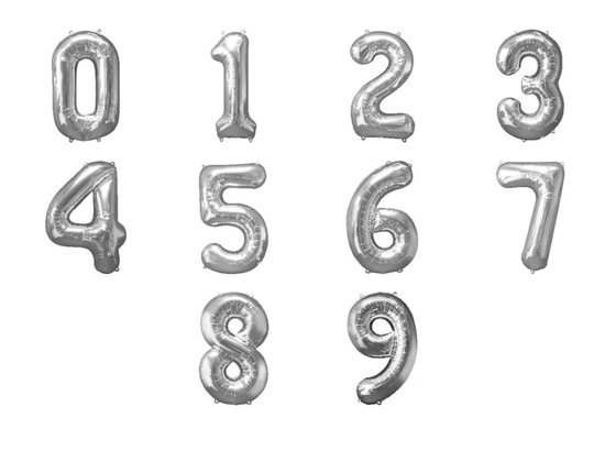Silver giant numbers 0-9