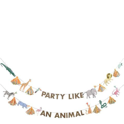 Eco friendly Safari animals large garland - Meri Meri