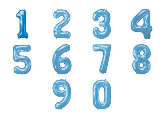 Blue giant numbers 0-9