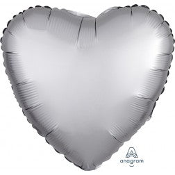 satin luxe heart - platinum