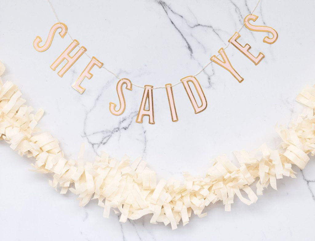 She said yes banner kit