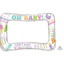 inflatable selfie frame - baby shower
