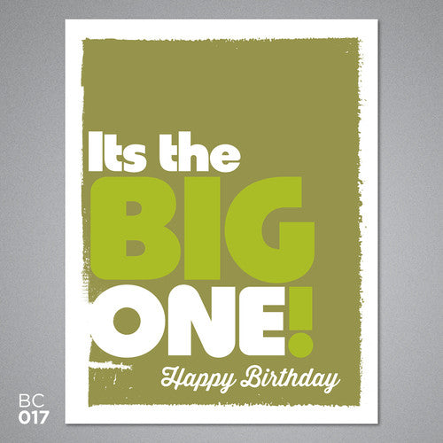 Happy birthday - it's the big one