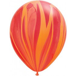 "11"" balloon - Flame marble"