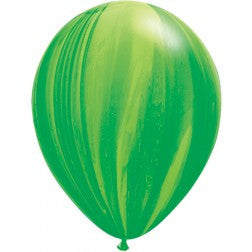 "11"" balloon - Green marble"