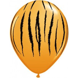 "11"" latex balloons - tiger stripe"
