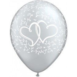 "11"" balloon - Silver heart"