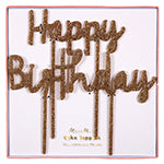Happy Birthday acrylic cake topper - Meri Meri