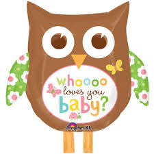Owl Whoooo Loves You Baby Balloon