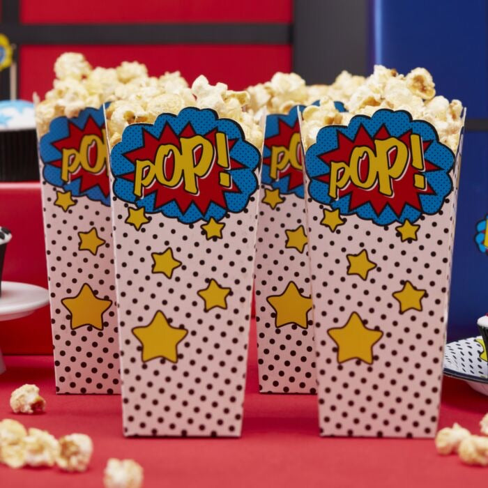 Popcorn boxes - comic superhero
