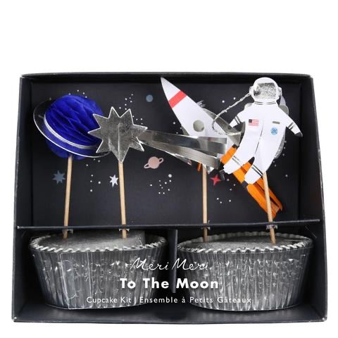 To the moon cupcake kit - Meri Meri