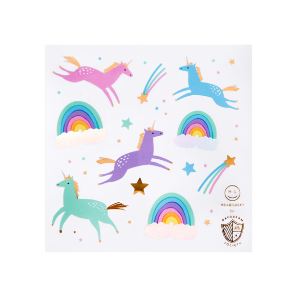 Magical unicorn sticker set - 4 pk