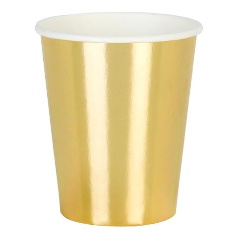 Modern metallic gold cups