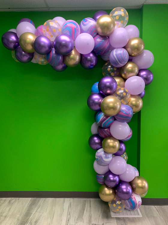 Positively purpleness balloon garland - ready for you to hang