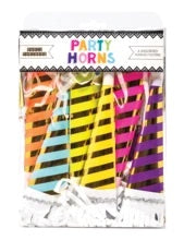 Striped party horns