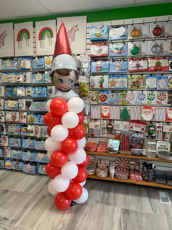 Elf on the shelf balloon pillar