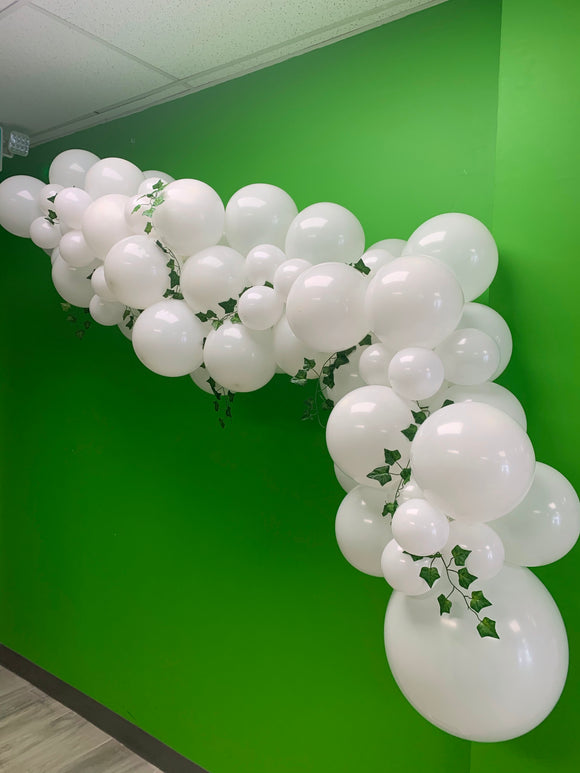 With ivy balloon garland - ready for you to hang