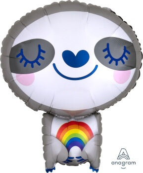 Standard shape sloth with rainbow