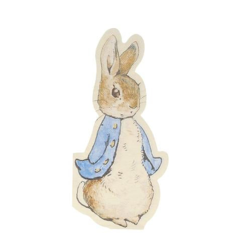 Peter rabbit shaped napkins - Meri