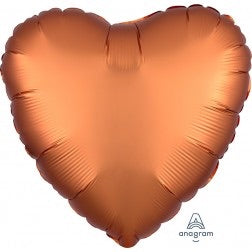 Satin luxe heart - amber