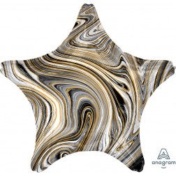 Black and gold marblez - star