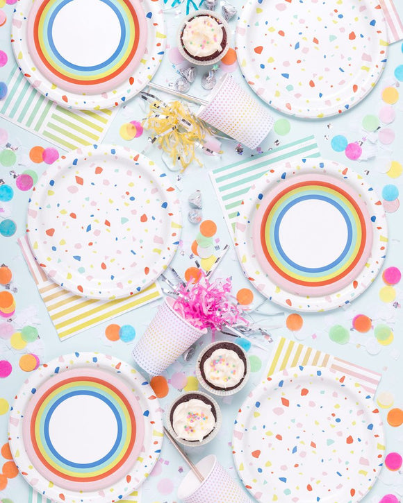 Knot & Bow - Rainbow dot party cups
