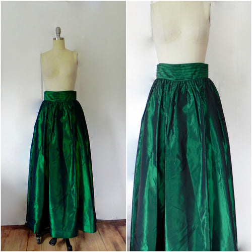 Rental or Purchase Bill Blass Evening Emerald Green Skirt. - Vintage World Rocks - 1