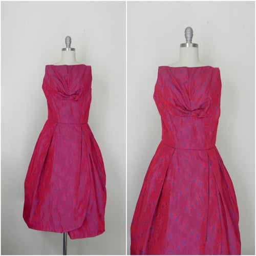 Vintage 1950s-1960s Red Sleeveless Evening Dress - Vintage World Rocks - 1