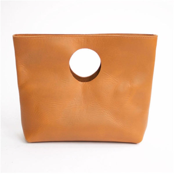 The Lee Clutch Sienna Original Leather Handmade by Neva Opet